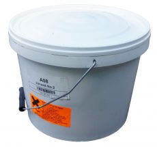 Plastic tub of Airset Fire Cement