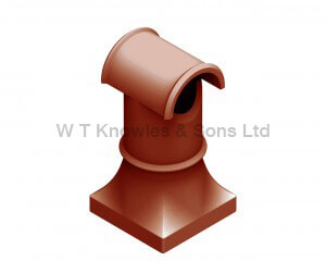 Scullery Hooded Pot - Clay Chimney Pot