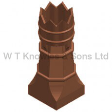 Big Bishop Pot - Clay Chimney pots accessories