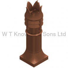 Bradford Windguard pot - Clay Chimney pot product