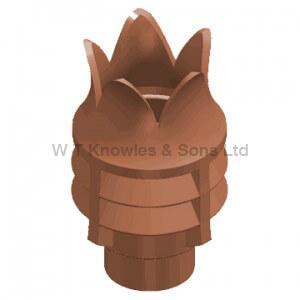 Bradford Windguard Push-In Top - Clay Chimney pots