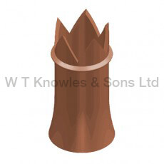 Crown Pot digital illustration - Clay Chimney pots