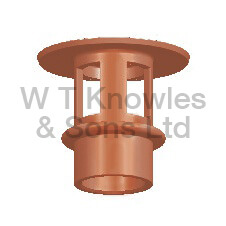 Flat Mushroom Push-In Hood - Clay Chimney pots