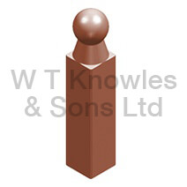 Garden edge corner post - clay design illustration