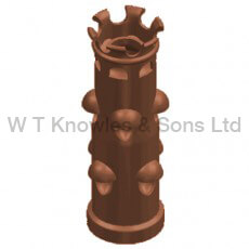 Knight Pot - Clay Chimney pots, cowls and accessories illustration