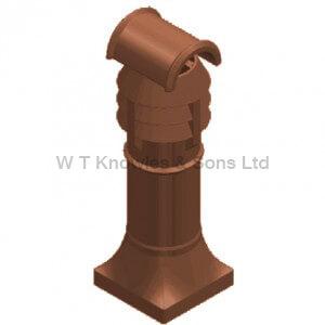Hooded Leeds 3 Bowl Pot - Clay Chimney pot design
