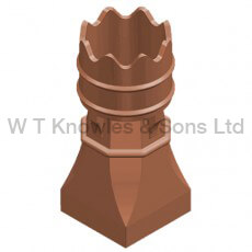little Bishop Pot - Clay Chimney pots illustration
