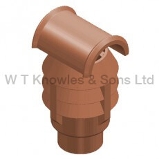 Hood Leeds 3 Bowl Push-In Top - Clay Chimney pot illustration