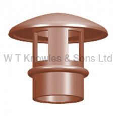 large mushroom Push-In Hood - Clay Chimney pots