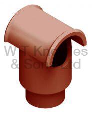 Leeds Push-In Hood - Clay Chimney Pot