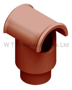 Leeds Push-In Hood - Clay Chimney Pot