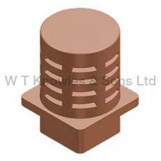 gas terminal Square base - Flanged illustration - Clay Chimney pots