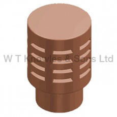 Gas terminal - Clay Chimney pots product illustration accessory