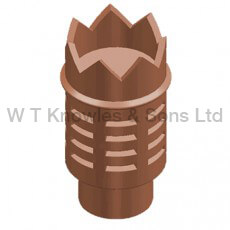 Crowned Gas terminal illustration - Clay Chimney pots