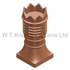 Bishop gas Terminal 2 Piece - Clay Chimney pots
