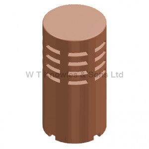 Gas Terminal Leeds Bishop Sit on - Clay Chimney pots and products illustration