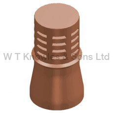 Single combi Gas terminal - Clay Chimney pots