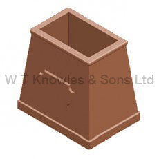 Rectangular Plaque Pot illustration - Clay Chimney pots