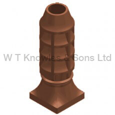 Square Base Sankey Pot - digital illustration - Clay Chimney pots
