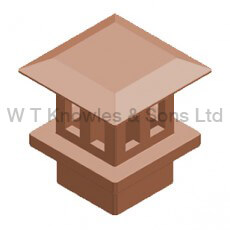Square Flat Mushroom Insert - Clay Chimney pots