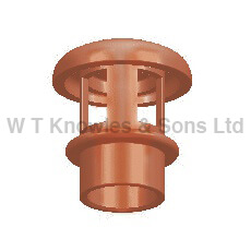Small Mushroom Push-In Hood - Clay Chimney pots illustration