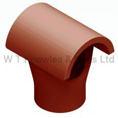 Taper Push-In Hood illustration - Clay Chimney Pot