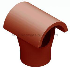 Taper Push-In Hood illustration - Clay Chimney Pot
