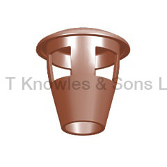 Taper Mushroom Push-In Hood - Clay Chimney pots