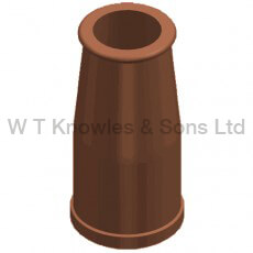 Round Taper Pot digital illustration - Clay Chimney pots