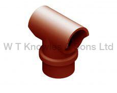 DFE Insert 275MM Spigot illustration - Clay Chimney Pot