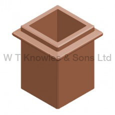Square Beaded Pot - Clay Chimney pots illustration