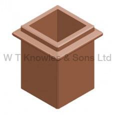Square Beaded Pot - Clay Chimney pots illustration