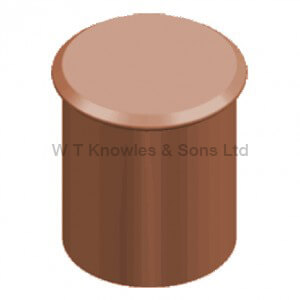 Straight Roll Top Pot - Blanked-Off illustration - Clay Chimney pots