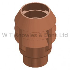 Leeds 3 Bowl Push-In Top - Clay Chimney pots