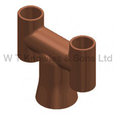 Round base 'H' pot digital illustraion - Clay Chimney pots