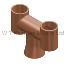 round Base 'H' Pot Large - Clay Chimney pots