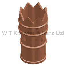 Round base leeds bishop pot - Clay Chimney pots accessories