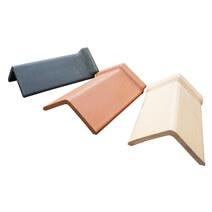 Ridge tiles for roof, illustration