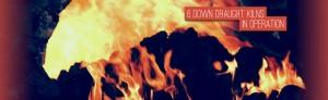 Burning coals banner