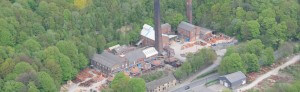 100 years banner image of WT Knowles site, aerial shot