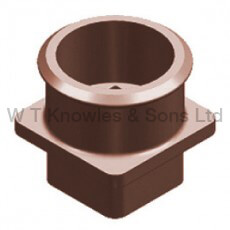Chimney Adaptor Square to Round - Clay Chimney pots