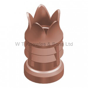 Bradford Windguard Push-On Top - Clay Chimney pots