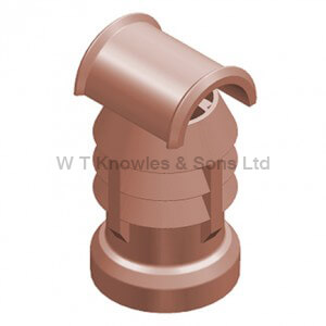 Hooded Leeds 3 Bowl Push-On Top - Clay Chimney pots