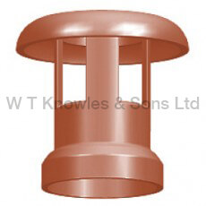 Large Mushroom Push-On Top - Clay Chimney pot products