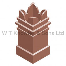 Square Spiked Pot - Clay Chimney pots illustration