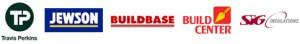 TP Travis Perkins Jewsons Buildbase Build Center and SIG Logos